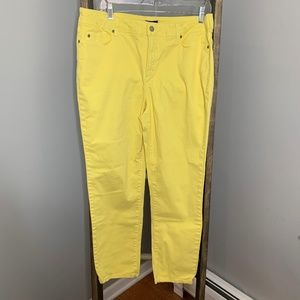 NYDJ Yellow Ankle Jeans